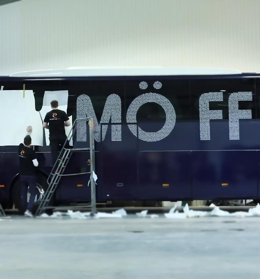 MFF Spelarbuss Exakta Tryckeri Malmö